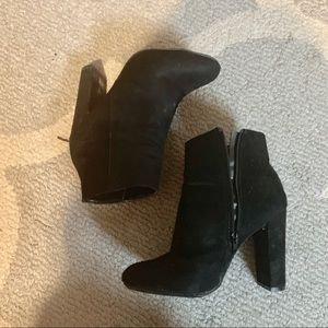 Shoes - Black ankle heel boots